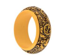 logo carved bangle
