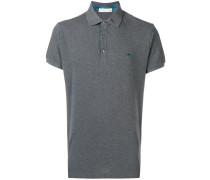 Poloshirt mit gemusterter Knopfleiste