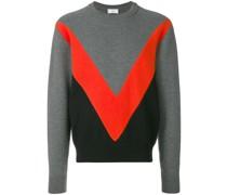 Dreifarbiger Pullover