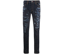 Gerade Jeans in Distressed-Optik