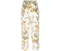 Cropped-Hose mit Blumenmuster