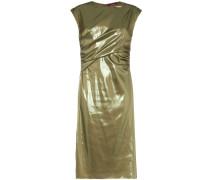 Edie Laminated Wrap Dress