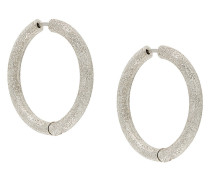 Florentine finish thick hoop earrings