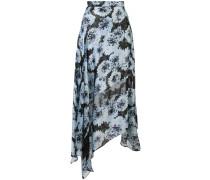 Camisole-Seidenkleid mit Blumemuster