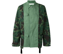 Cargo-Jacke mit Camouflage-Print