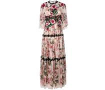 rose maxi evening dress