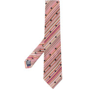 Gestreifte Krawatte mit Punkten