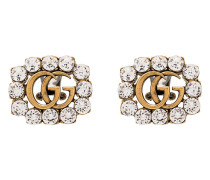 Gelbvergoldete GG-Ohrringe mit Kristallen