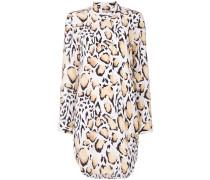 animal print buttoned dress