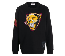 Sweatshirt mit Tiger-Patch