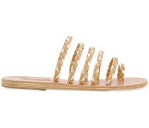 woven open-toe sandals