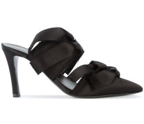 Satin High Mule with Ties
