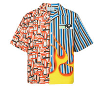 Short-sleeved shirt with two prints