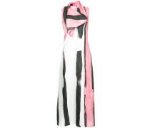 patterned colour block maxi dress