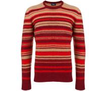 Schmaler Pullover mit Streifen