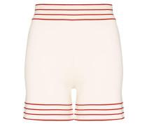 Gestrickte Shorts mit Streifen