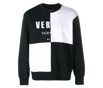Sweatshirt mit Schachbrett-Print