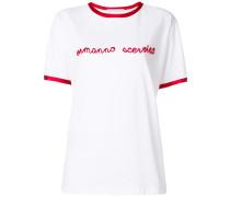 T-Shirt mit Kontrastbesatz