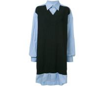 Pulloverkleid mit Hemdeinsatz