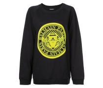 crest logo printed sweatshirt
