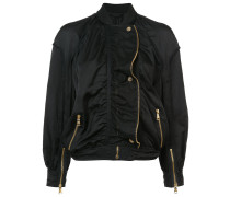 gold-tone zip detailed bomber jacket