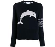 Jacquard-Pullover mit Logo-Streifen