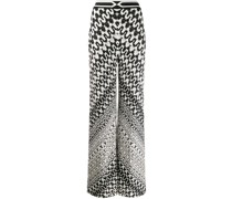 Weite Hose mit geometrischem Muster