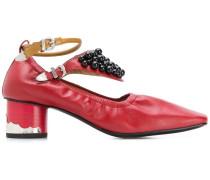 embellished ankle strap pumps