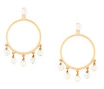 embellished pearl hoop earrings