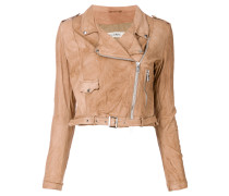 cropped motorcycle jacket