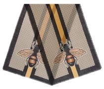 Stola aus Wolle mit Bienen und Web