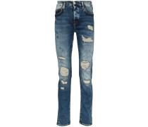 'Roco' Jeans in Distressed-Optik