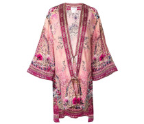 Kimonojacke mit Blumen-Print
