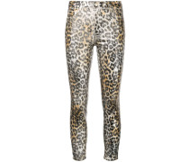 Skinny-Jeans mit Leoparden-Print