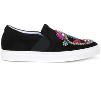 Verzierte Slip-On-Sneakers