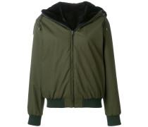reversible fur hooded jacket
