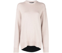 Oversized-Pullover mit Kontrastrücken