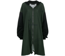 zipped super oversized hoodie