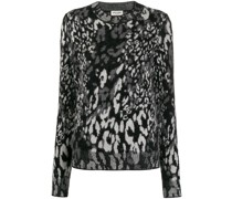 Jacquard-Pullover mit Leopardenmuster