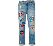 x Keith Haring Jeans mit Patches