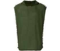hooded sheer vest