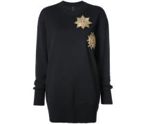 Pullover mit Metallic-Patches