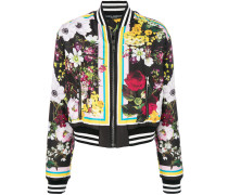 Floral Bouquet printed bomber jacket