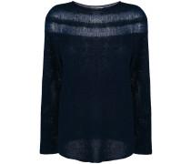Pullover mit semi-transparenten Einsätzen