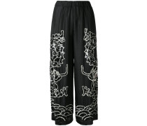 P.A.R.O.S.H. embroidered flared trousers