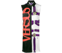 printed sleeveless shirt dress