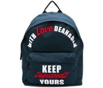 Rucksack mit Slogan