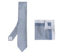 Set aus Einstecktuch und Krawatte