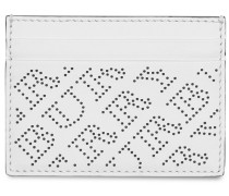 Perforated Logo Leather Card Case