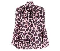'Carmen Flower Leopard ' Hemd